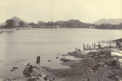 The Swarupsagar (a part of the Pichchola Lake) and a part of the city, Udaipur